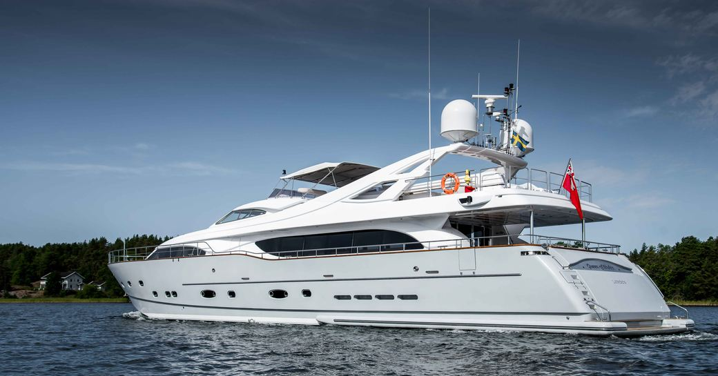 Superyacht Queen of Sheba on the water