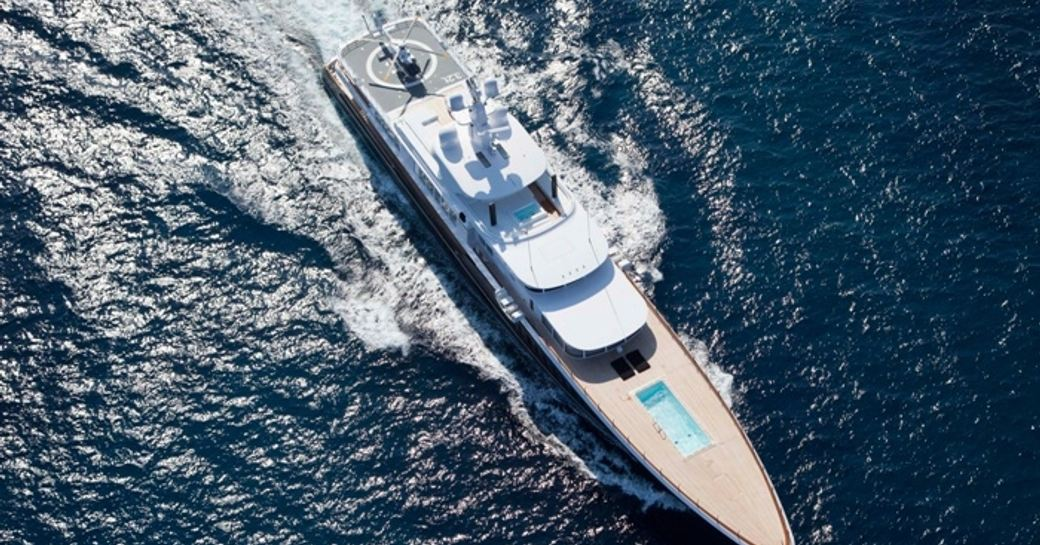 superyacht AIR available to charter in the Caribbean region