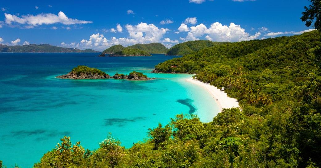 pretty beach in the us virgin islands