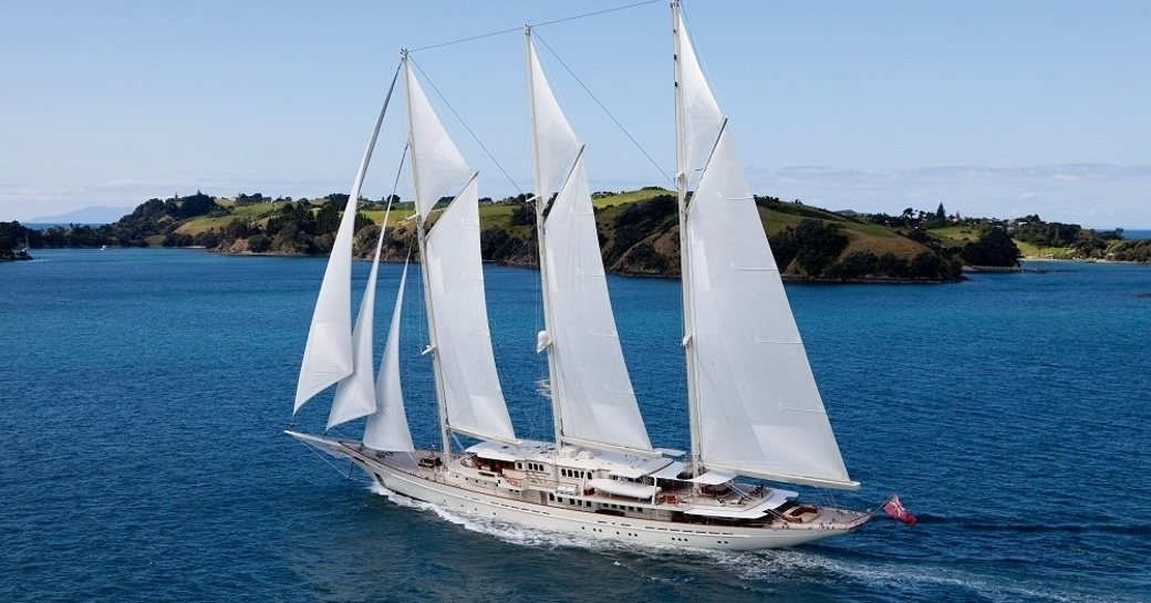 superyacht ATHENA cruises in the Mediterranean on a luxury yacht charter
