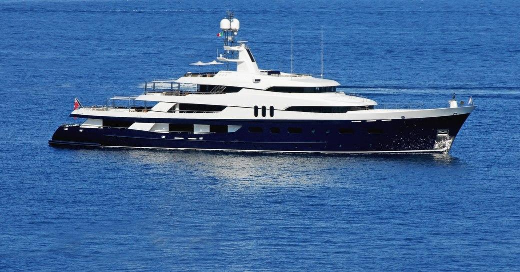 superyacht AMADEUS cruising in the Mediterranean