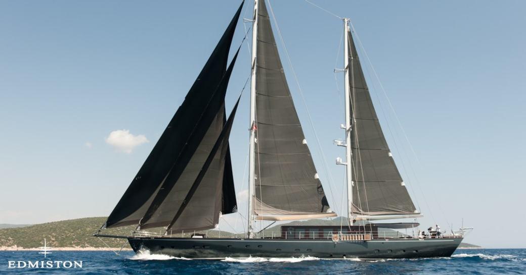 Sailing yacht ROXSTAR underway