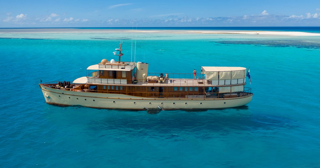 over the rainbow classic luxury yacht in east africa