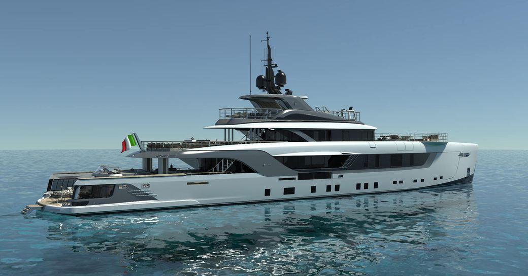 luxury superyacht geco launches