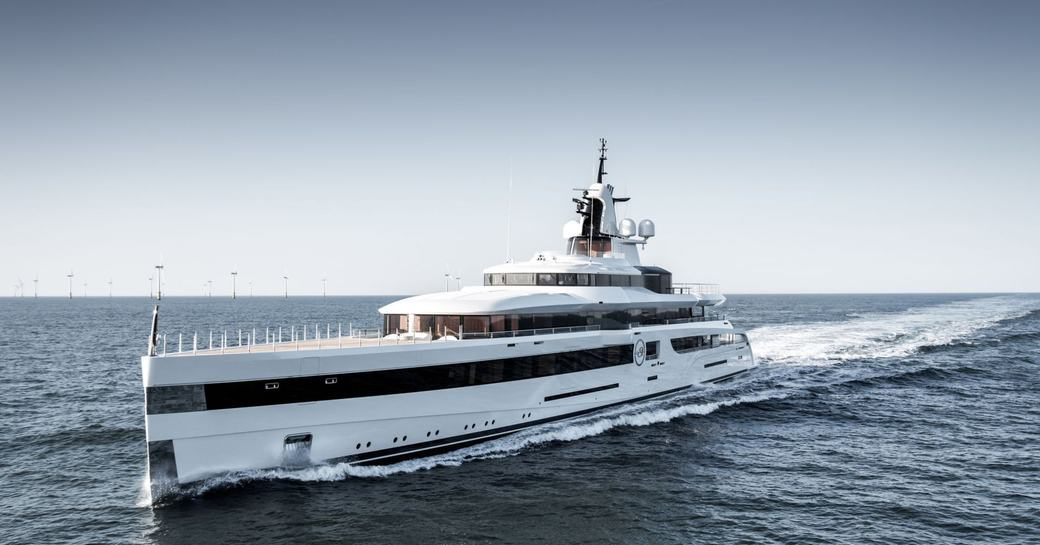 Charter Yacht LADY S during her sea trials