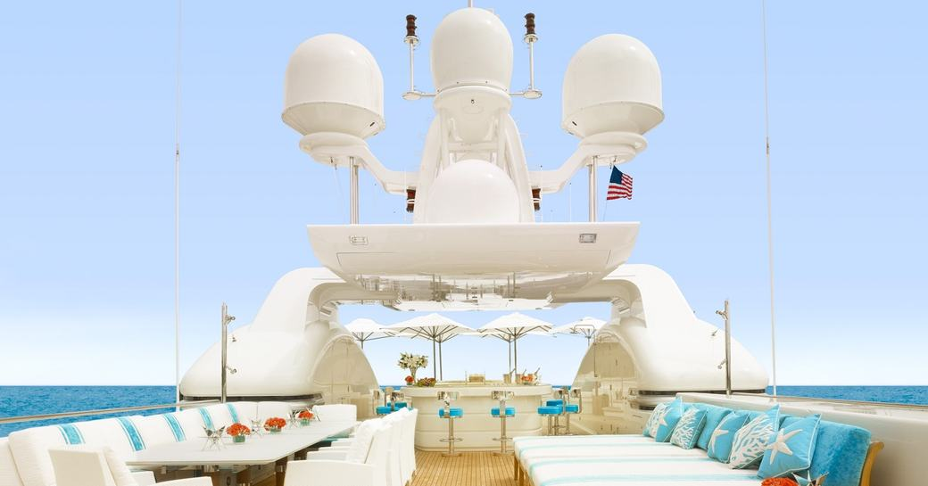 superyacht AQUARIUS available for christmas and new year charter in the Caribbean