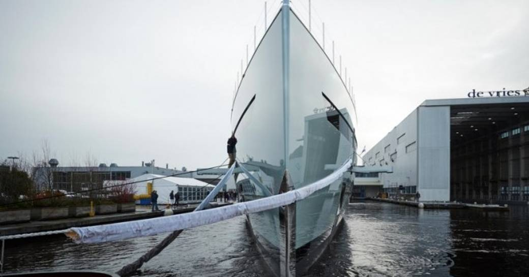 world's first hybrid superyacht, 83.5m Feadship SAVANNAH's hull