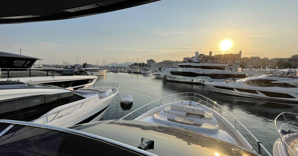 Sunset at the Monaco Yacht Show 2021