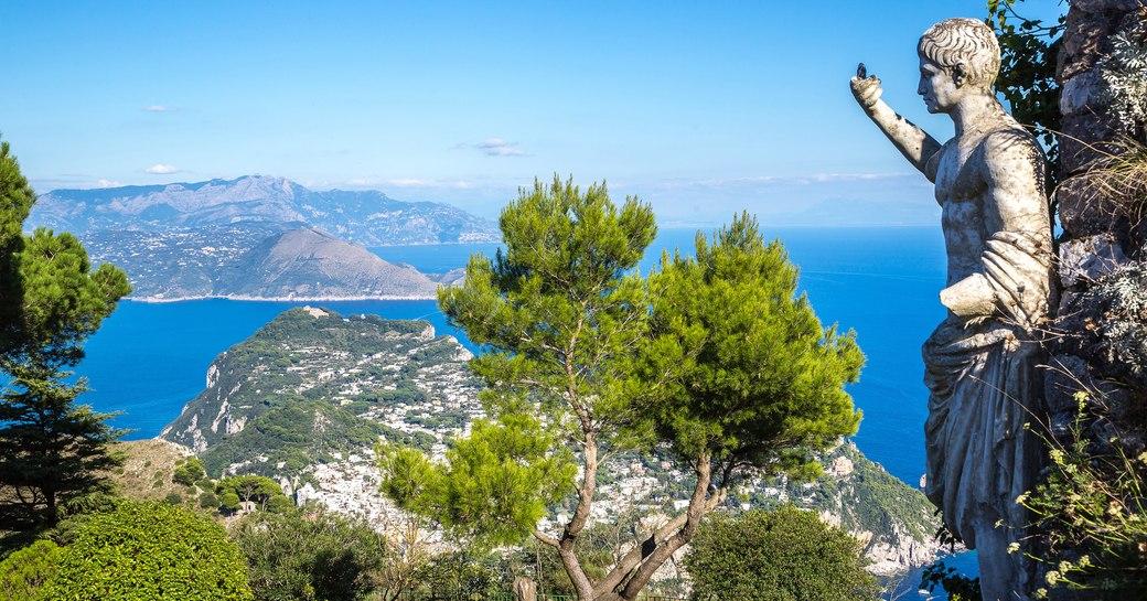 Statue of Caesar Augustus in Anacapri on the island of Capri