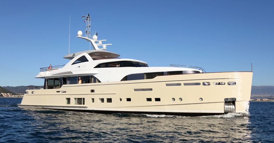 superyacht SOLIS underway on a luxury yacht charter to Costa Rica