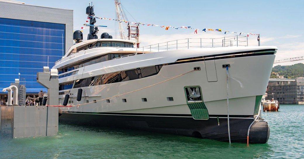 sanlorenzo superyacht lammouche following launch