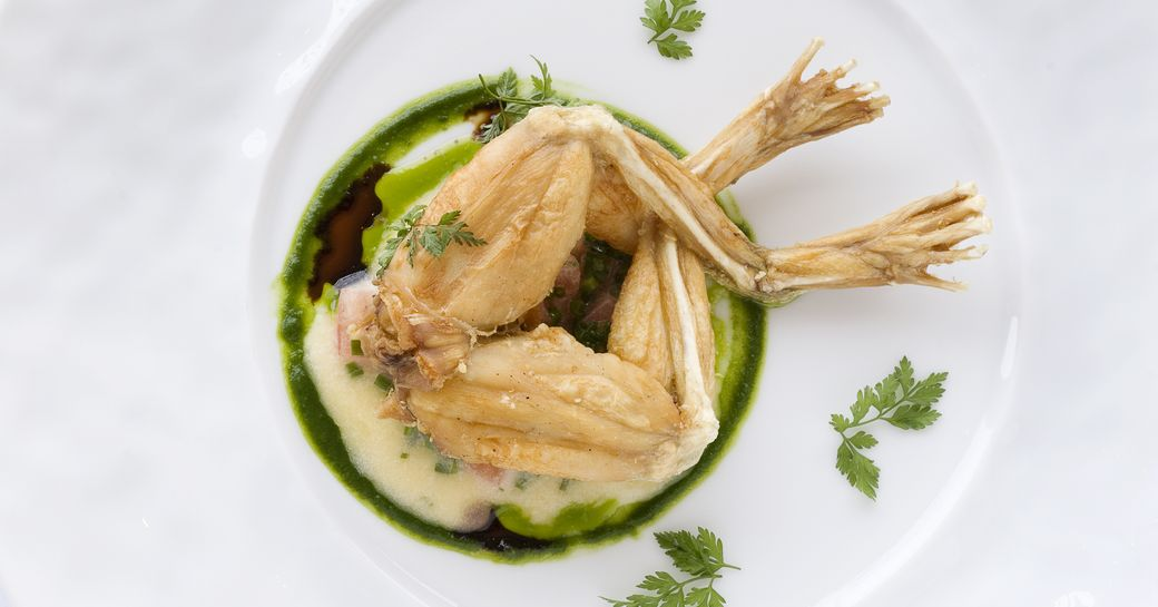 frog legs served gourmet style in the South of France