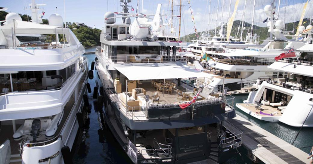 expedition yacht 'Planet Nine' at the Antigua Charter Yacht Show