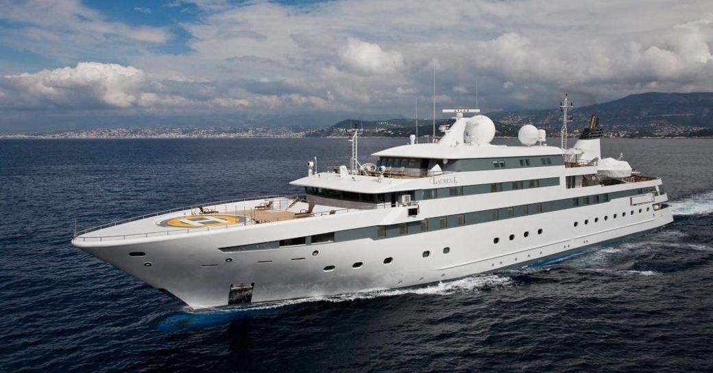 Superyacht 'Lauren L' underway