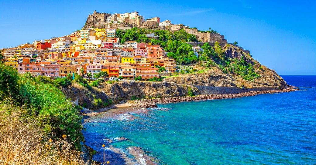 Beautiful bay in Castelsardo town in Sardinia
