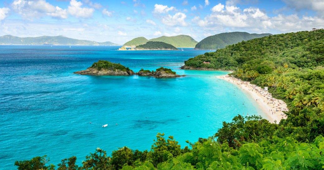 Turquoise sea virgin islands