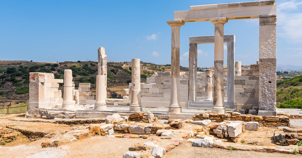 Ionic columns of temple in Greece