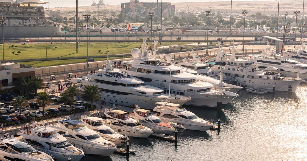 Superyachts docked in Abu Dhabi