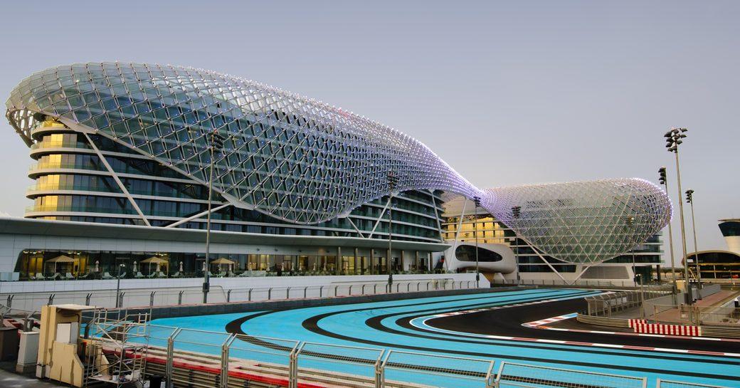 The race track at Abu Dhabi's YAS Marina