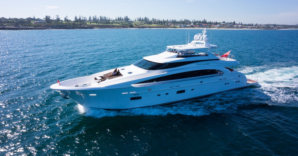 superyacht paradise cruises in south pacific