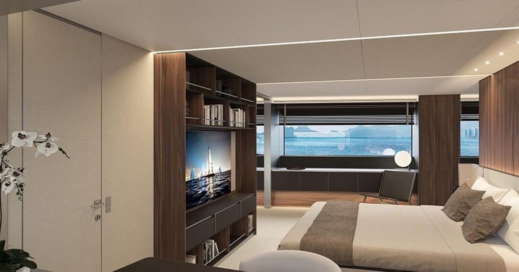 luxury superyacht owners suite