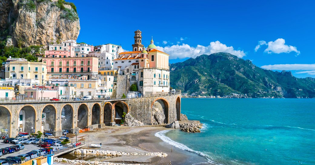 popular yacht charter destination of sorrento, in italy