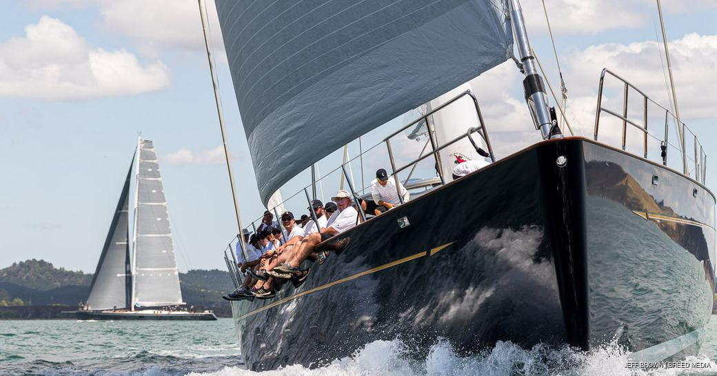 sailors on yacht during nz millennium cup