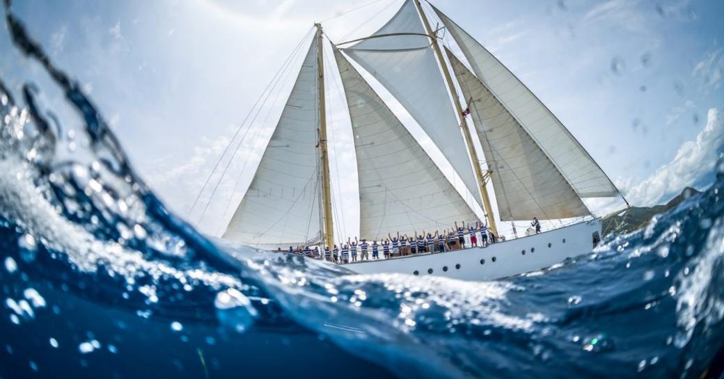 sailing yacht CHRONOS at the Antigua Classic Yacht Regatta