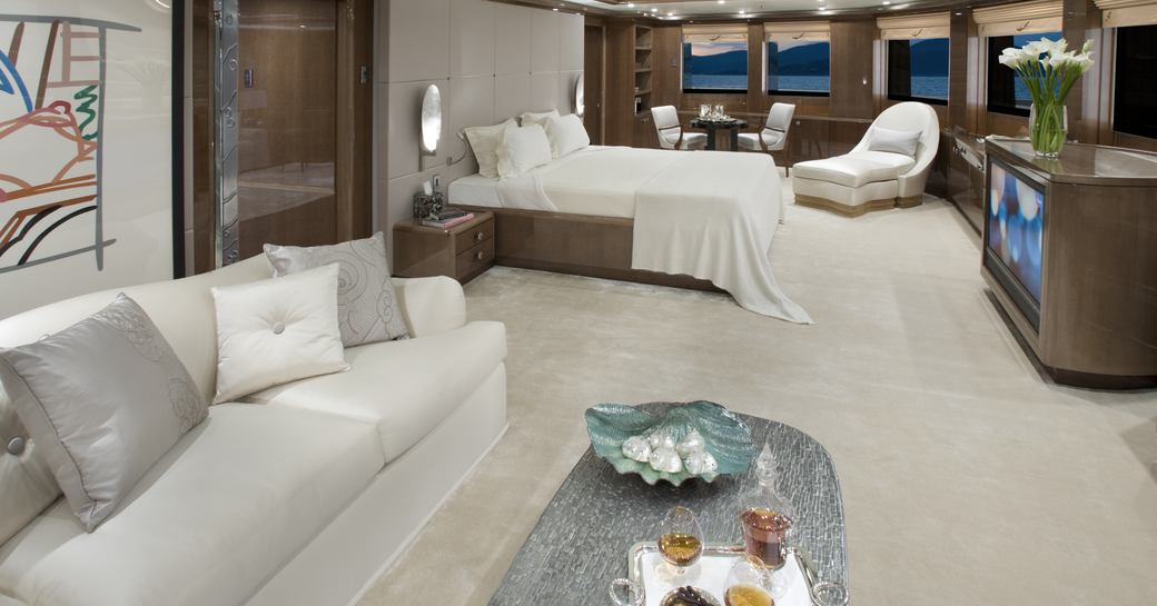 Beyonce might have stayed in the luxurious master stateroom on board charter yacht 'Alfa Nero'