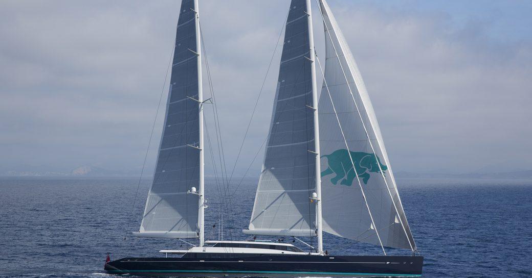 Luxury sailing yacht AQUIJO underway