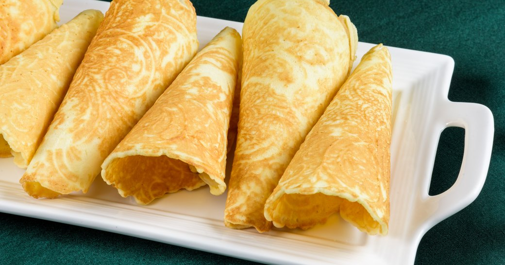 krumkate filled with cream on a Norway yacht charter
