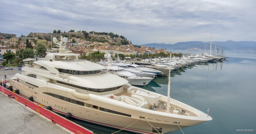 Yachts berthed at the Mediterranean Yacht Show 2016