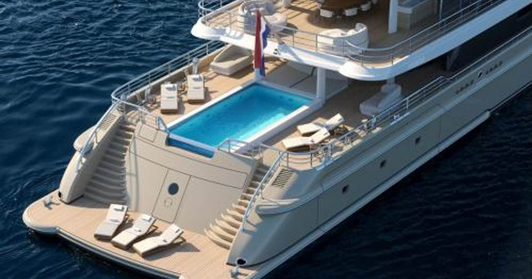 aft deck pool on luxury yacht synthesis
