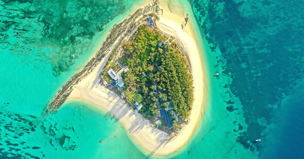 thanda private island and marine reserve aerial view