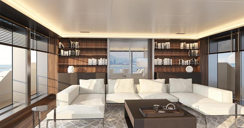 main salon on sanlorenzco yacht drifter world