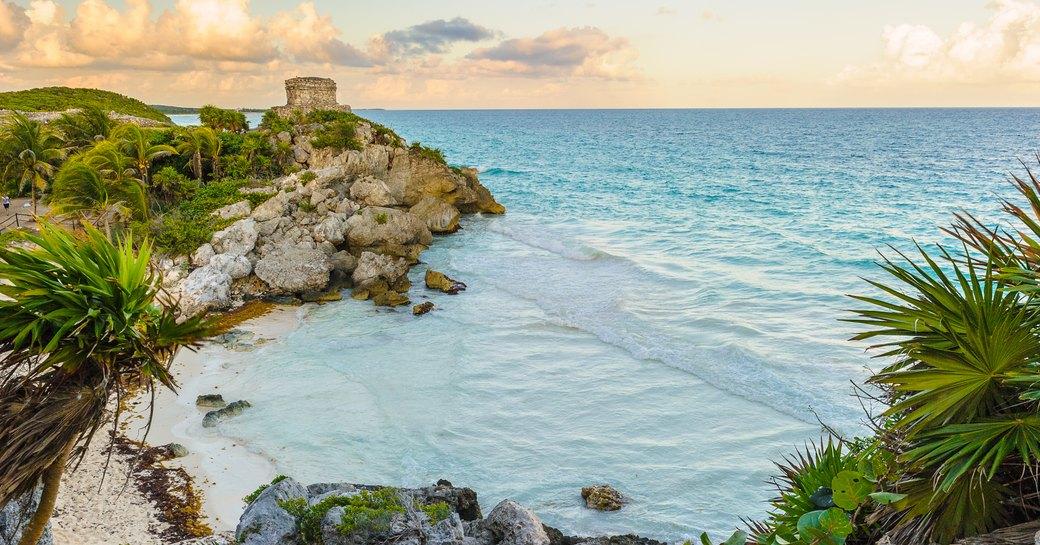 Peaceful beach in Mexico