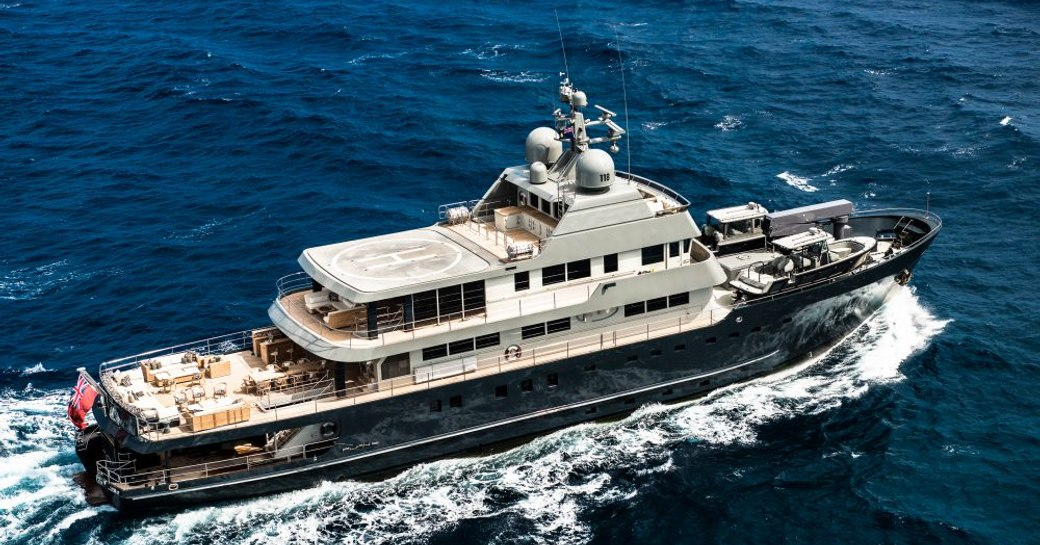 expedition yacht 'Plan B' cruising on a luxury yacht charter