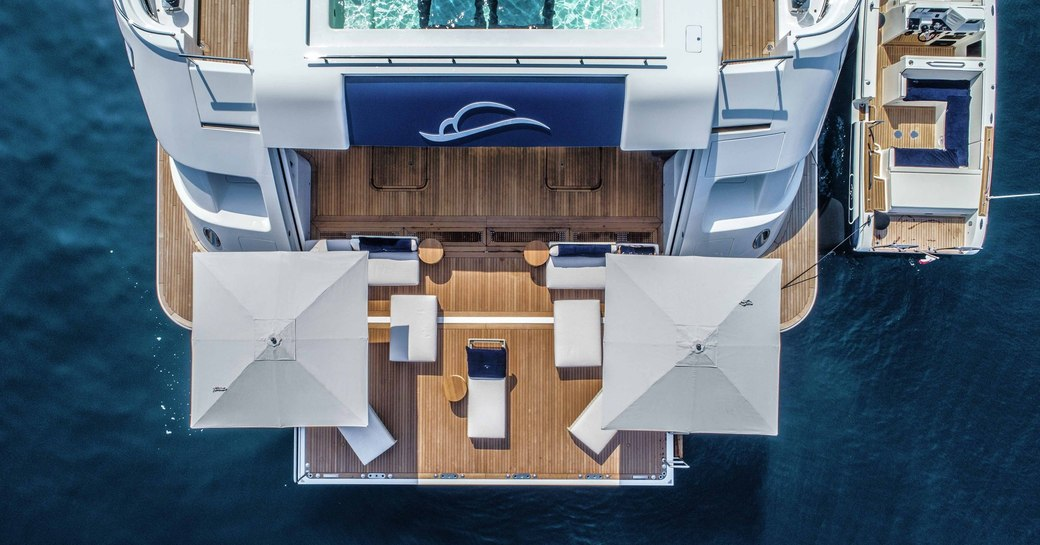 luxury yacht lady jorgia pool and beach club