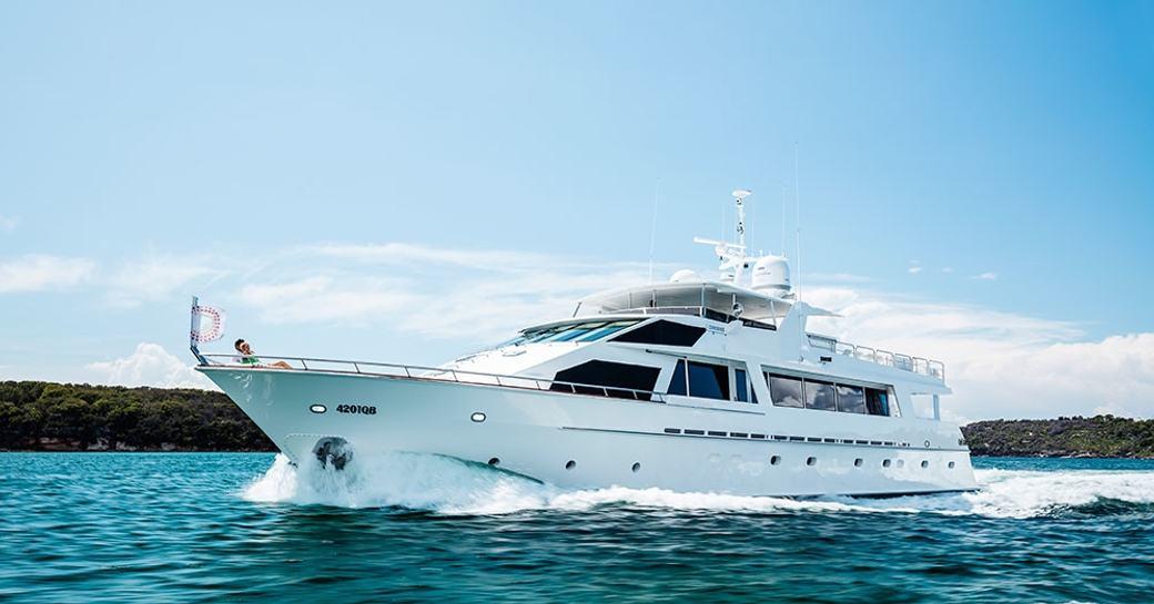 superyacht CORROBOREE cruises in Sydney on a luxury yacht charter