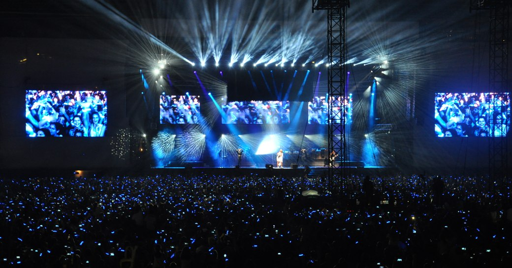 Crowds of people attend Du Arena for post-race concerts after F1 Abu Dhabi Grand Prix