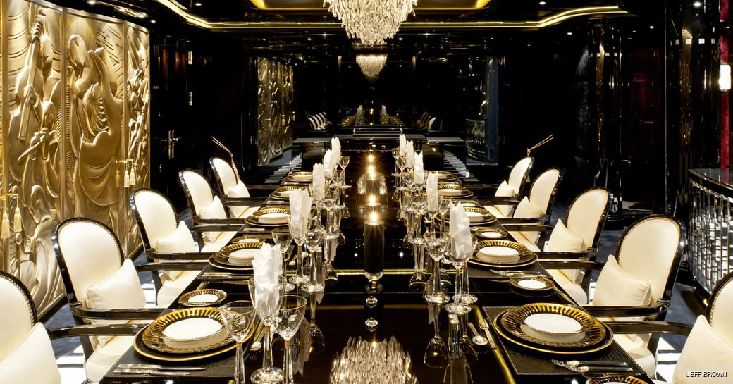 Phoenix 2 luxury dining set-up with gold gilding