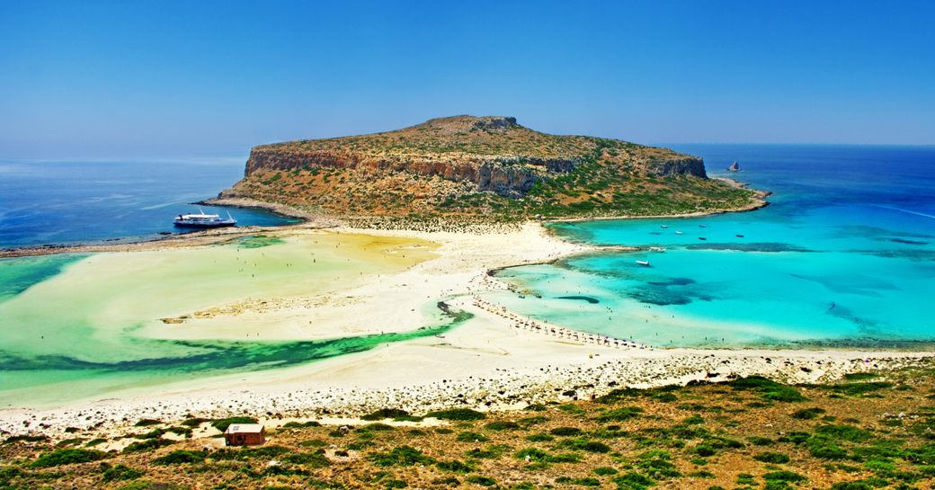 Stunning white beaches at Balos Bay in Crete