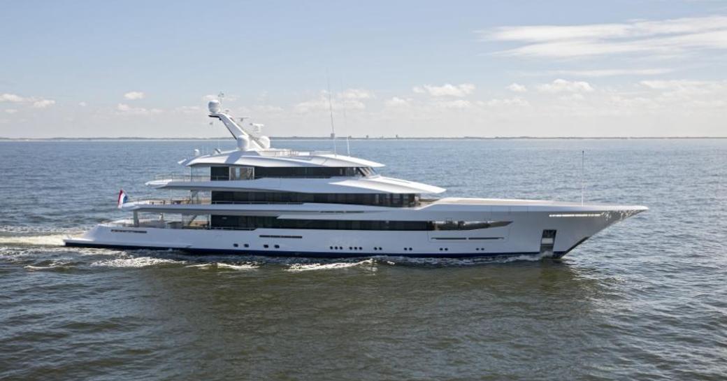 Feadship superyacht JOY undergoing sea trials