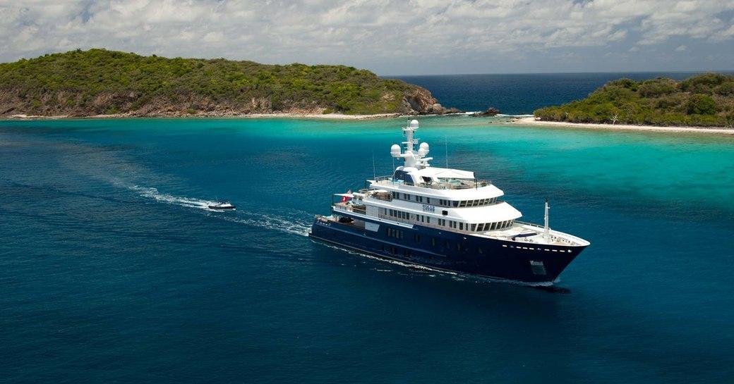 Lurssen superyacht 'Polar Star' cruising in the Mediterranean
