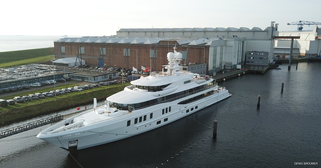 luxury yacht synthesis at amels yard