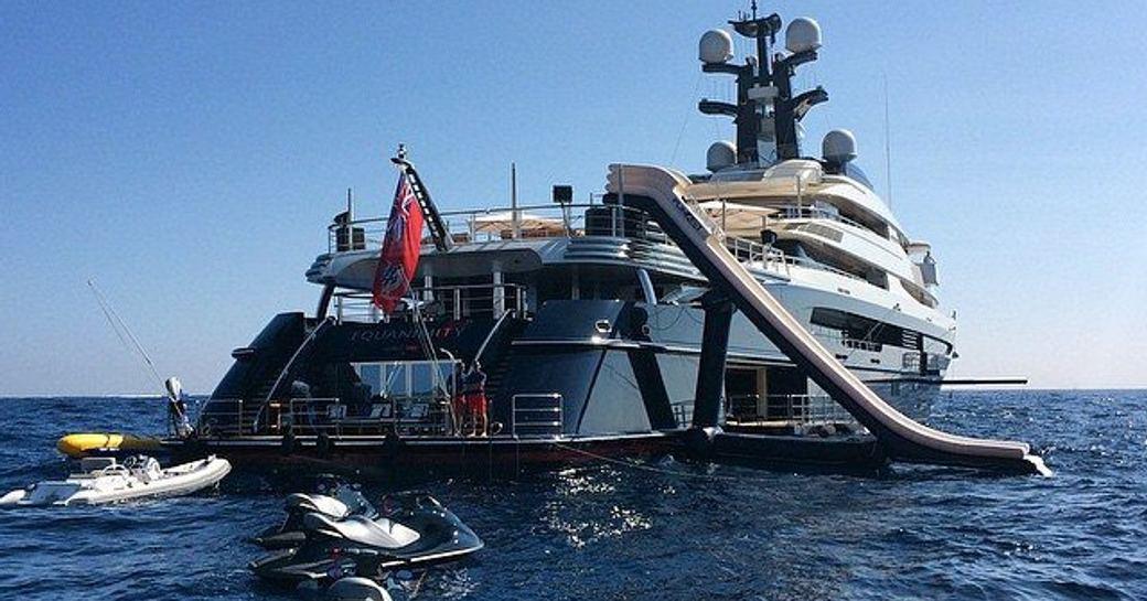 Waterslide on-board Equanimity yacht