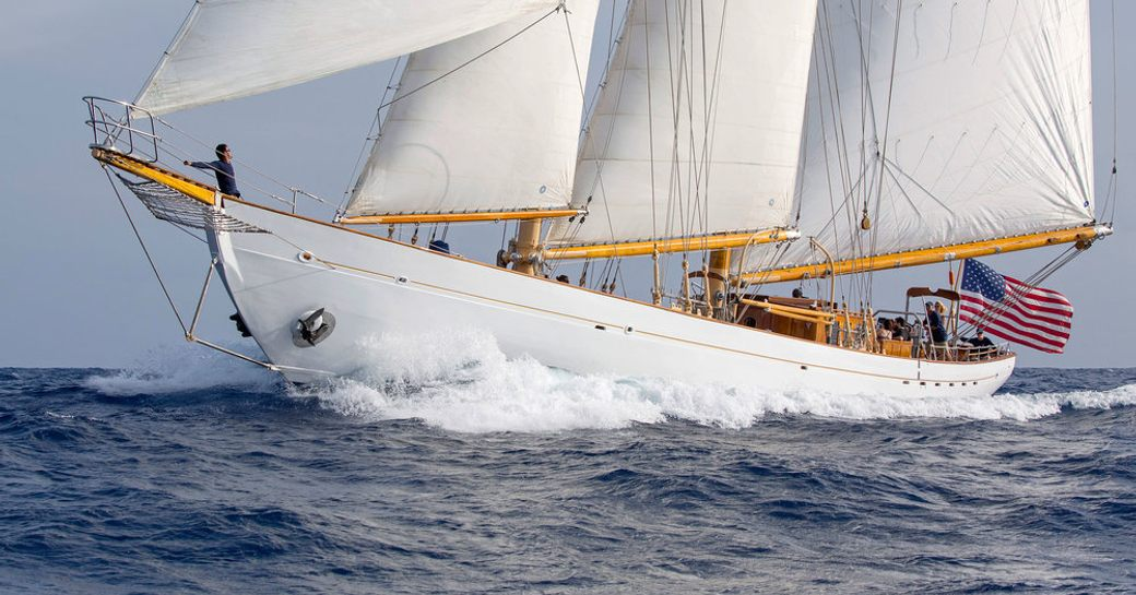 classic sailing yacht EROS will be competing at the Antigua Classic Yacht Regatta