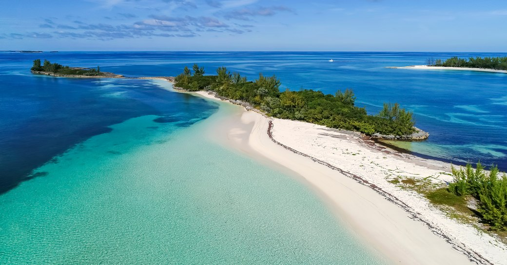 Sand bar in the Bahamas