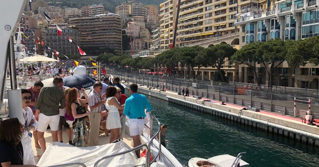 Charter guests on yachts at the Monaco Grand Prix 2018