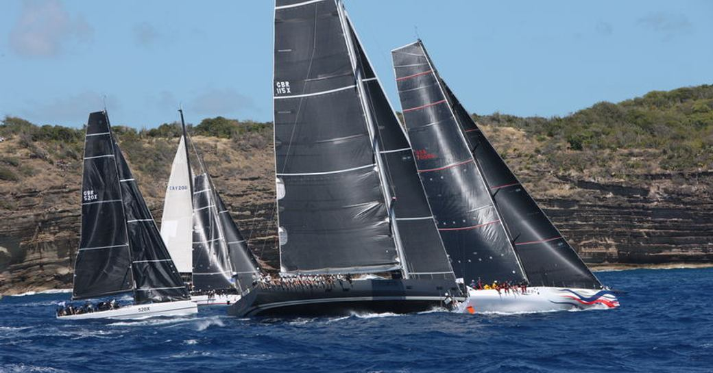 superyacht RORC Caribbean 600 competing in the first day of the RORC Caribbean 600